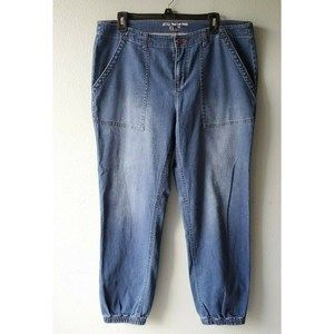Peace Love World Plus 14 Denim Jogger Stretch